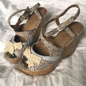 Cute summer heels designed by Jellypop. Size 6M.